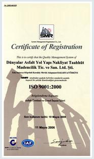 ISO 9001-2000 Kalite Yönetim Sistemi